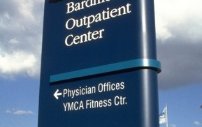 Healthcare Signage Exterior Directional Sign