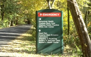 Hospital Exterior Signage Roadside Sign