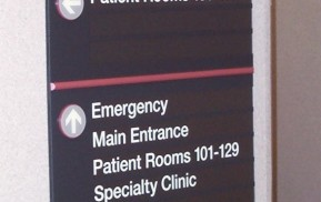 Hospital Wayfinding - Floor Directional Sign