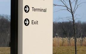 Airport Wayfinding - Exterior Directional Signage