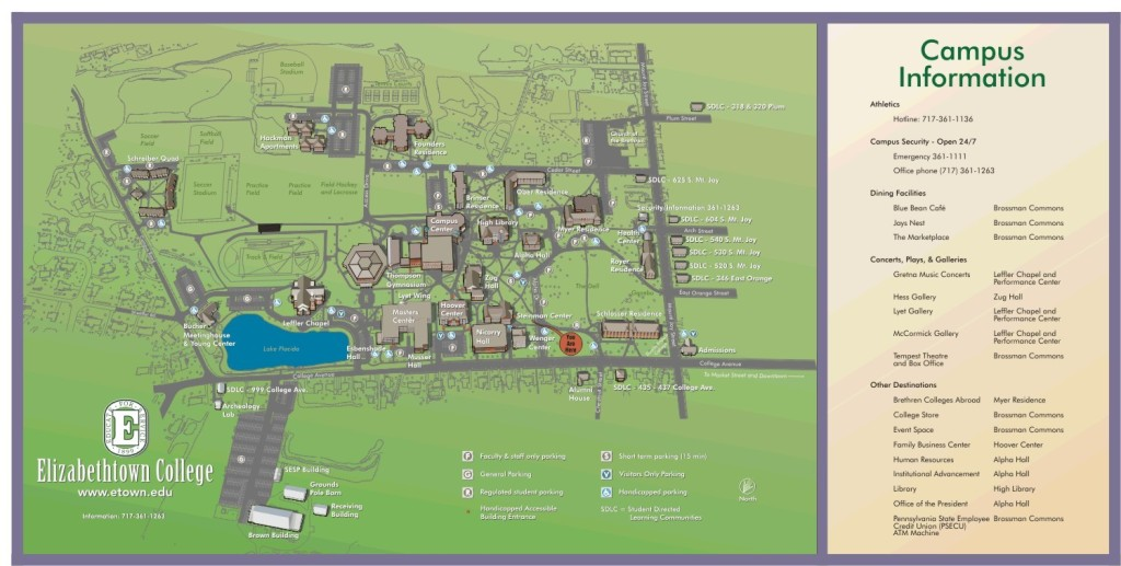 Elizabethtown College Map Wayfinding   You Are Here Maps   Elizabethtown College