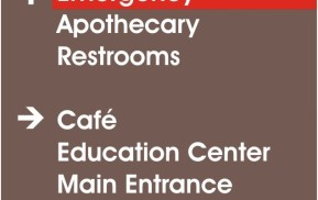 Healthcare Wayfinding - Directional Signage