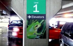 Parking Garage Wayfinding Sign