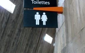 Museum Wayfinding - Toilet Signage