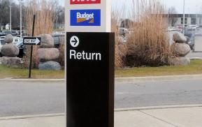 Airport Signage - Exterior Sign