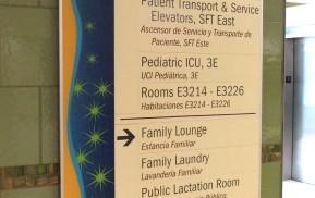 Hospital Wayfinding - Directional Signage