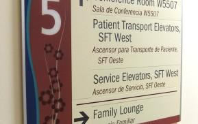 Hospital Wayfinding - Directional Signs
