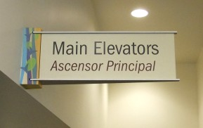 Healthcare Wayfinding - Elevator sign