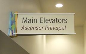 Healthcare Wayfinding - Elevator sign