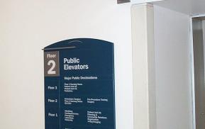 Hospital Wayfinding Interior Floor Guide Signage