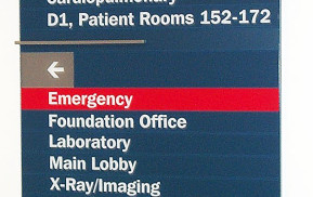 Hospital Signage Wall-Mounted Directional Sign