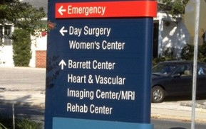 Hospital Wayfinding Emergency Directional Sign