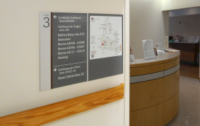 Healthcare Facility You Are Here Wayfinding Sign