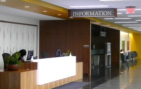 Hospital Signage - Information Desk ID Sign
