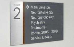 Hospital Wayfinding - Floor Directional Signage