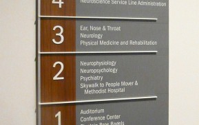 Hospital signage - Floor Directory