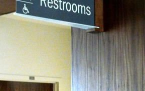 Healthcare Signage - Restroom ID sign
